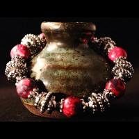 Armband Rainflowerstone Red Pearls